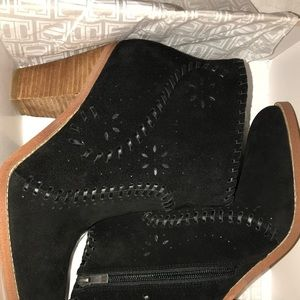 Ivanka Trump Mandel suede Cowboy ankle Boots